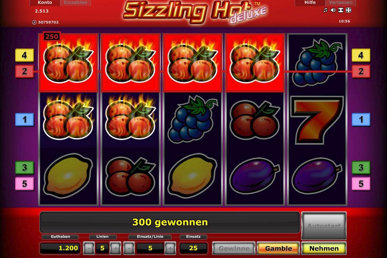 Sizzling Hot Spielen App